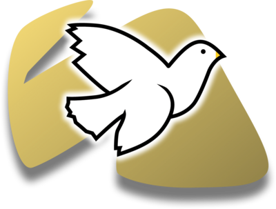 White Dove on Gold