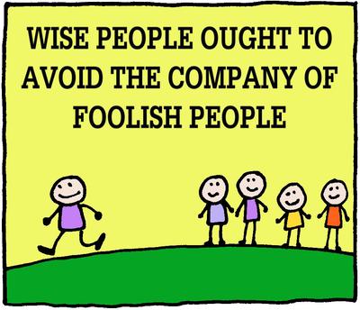 Image download: Wise Avoid Foolish | Christart.com