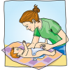 Changing Diapers | Baby Clip Art