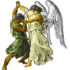 Jacob wrestling an angel