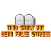 "This is a graphic of the tablets containing the Ten Commandments. This one is the 9th commandment, ""Thou shalt not bear false witness."""