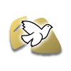 White Dove on Gold | Dove Clip Art
