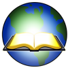 Open Bible Glowing before Earth | Bible Clip Art
