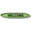Green Welcome Button