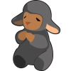This is a simple yet very cute graphic of a black lamb praying. Available also in white.