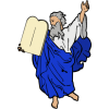 Moses holding the 10 commandments