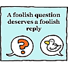 A foolish question deserves a foolish reply