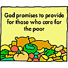 God promises to provide for those who care for the poor