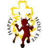 Happy Holy Eve | Cross on Halloween Image