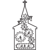 This is an interesting illustration of the shape of a church with gears all over the inside. The idea is to communicate people working in harmony to make the church work.