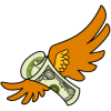 Money with wings