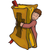 Little boy hugging Bible | Bible Clip Art