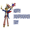 Happy Independence Day Rabbit | 4th of July Clip Art