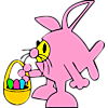 Fish with Easter basket in bunny suit