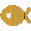 Fish shape decking