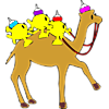 Three fish on camel