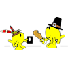 Pilgrim and Indians | Thanksgiving Clip Art