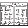 Maze showing easy path to God