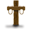 Yoke on post forming a cross
