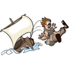 Jonah Tossed From Ship | Jonah Clip Art