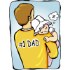 Baby Sleeping On Fathers Shoulders