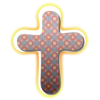Glowing cross with cloth pattern inside