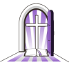 Cross in Purple Doorway | Cross Image