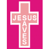 "Pink ""Jesus Saves"""
