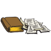 Bible and notes | Bible Clip Art