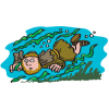 Jonah Under Water | Jonah Clip Art