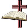 Bible in front of cross voided