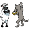 Wolf preaching to a sheep