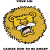 Your sin causes God to be angry