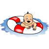 Swimming Baby | Baby Clip Art