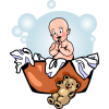 Laundry Basket Baby | Baby Clip Art