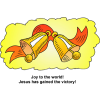 Joy to the world! Jesus has gained the victory