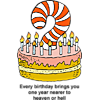 Every birthday brings you one year nearer to heaven or hell