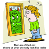 The Law of the Lord shows us what we really look like inside