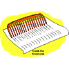 "This is a drawing of a big comb going over a page of the bible. Below are the words, ""Comb the Scriptures."" It is an illustration to encourage in depth bible study."