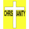 Christianity spelt with a cross for the t