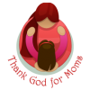 Girl reach up to her mom whos holding her | Mothers Day Clip Art