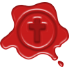 Wax seal with a cross