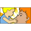 Baby Touching His Moms Face | Mothers Day Clip Art