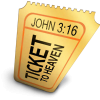 "Ticket with the words ""Ticket to Heaven"""