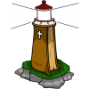 This is a drawing of a lighthouse shaped like a Bible. It has a good, solid rock under it. The bible is a lighthouse for those who are looking for rescue.