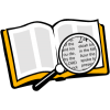 Magnifying Glass over Bible | Bible Clip Art