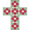 Cross made up of flower pattern