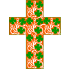 Cross with Ivy and Clover Image