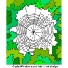 God's Wisdom spun into a net design