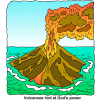 Volcanoes hint at God's power
